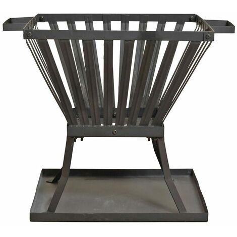 RedFire Fire Basket Denver Black Steel 39x39 cm 85015