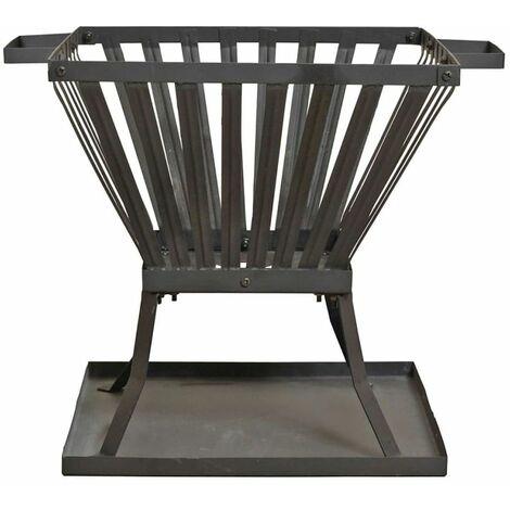 """main image of """"RedFire Fire Basket Denver Black Steel 39x39 cm 85015 - Black"""""""