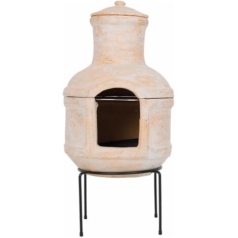 """main image of """"RedFire Fireplace Lima with Grill Clay Straw - Multicolour"""""""