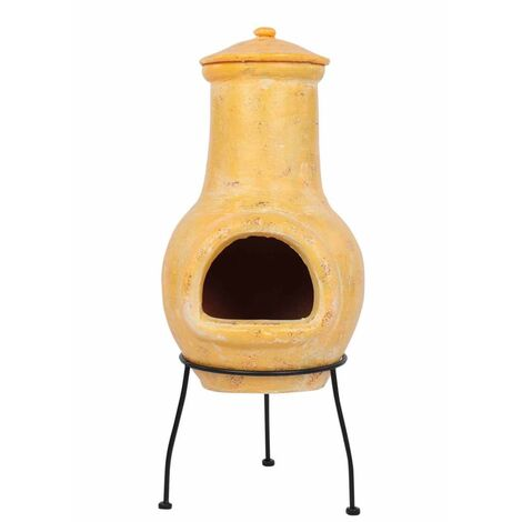 RedFire Fireplace Tampico Yellow 31x31x68 cm Clay