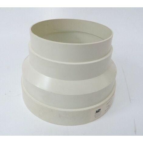 Réducteur Conique PVC Blanc Diamètre 125-100 VENTIL'DISTRIBUTION 902575