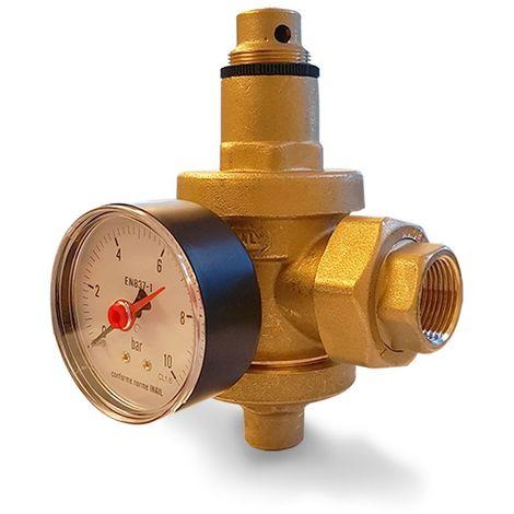 Réducteur de pression en laiton pour eau chaude à action directe