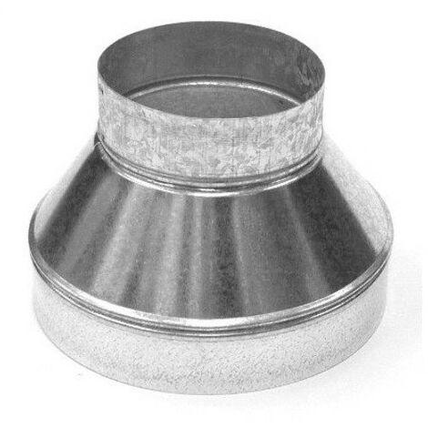 Réducteur métal 100-125 mm conduit ventilation