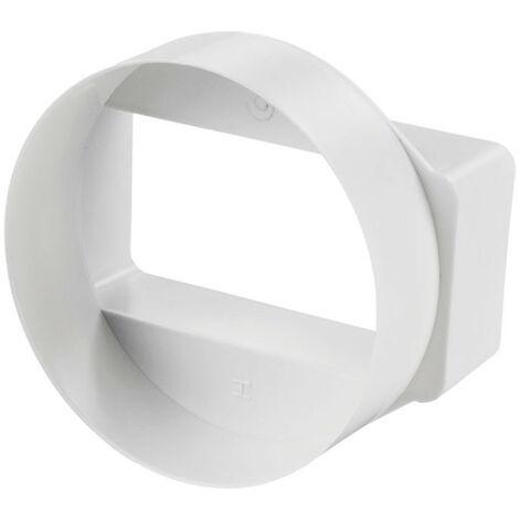 Reducteur rond à rectangle - 55x110mm / Ø 100mm - Winflex Ventilation