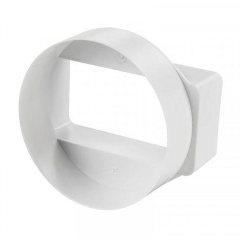 Reducteur rond vers rectangle - 55x110mm / Ø 100mm - Winflex