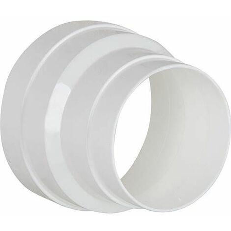 Reduction 100/125 mm blanc