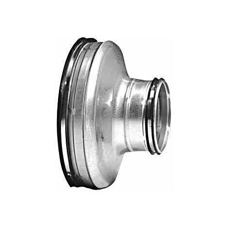 Réduction conique concentrique Galva D125/100 à joints - ECONONAME - RCCGALD125/100J