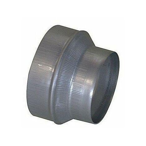 Réduction galva 125-80 mm