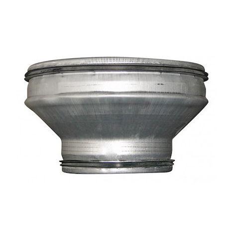 Réduction conique concentrique - RCC 125/100 J - Ø 125mm à 100mm - Galva avec joints