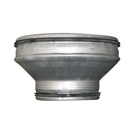 Réduction conique concentrique - RCC 125/80 J - Ø 125mm à 80mm - Galva avec joints