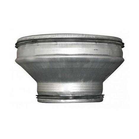 Réduction conique concentrique - RCC 160/125 J - Ø 160mm à 125mm - Galva avec joints