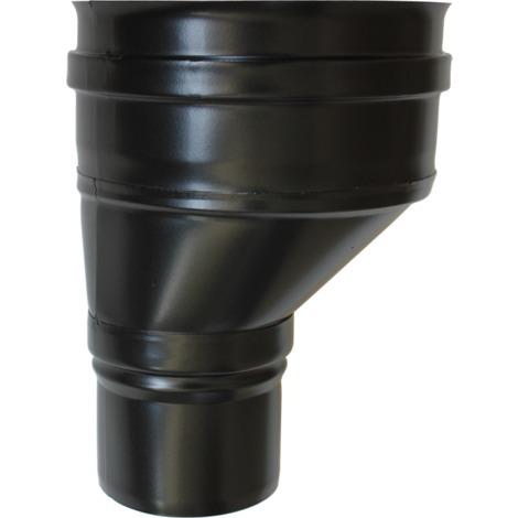 Réduction conique décentrée noire - Ø 100 M - 150 F