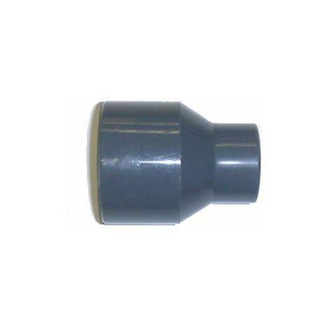 Réduction conique PVC pression - Mâle à coller / Femelle à coller. - Diamètres 63 / 32 mm