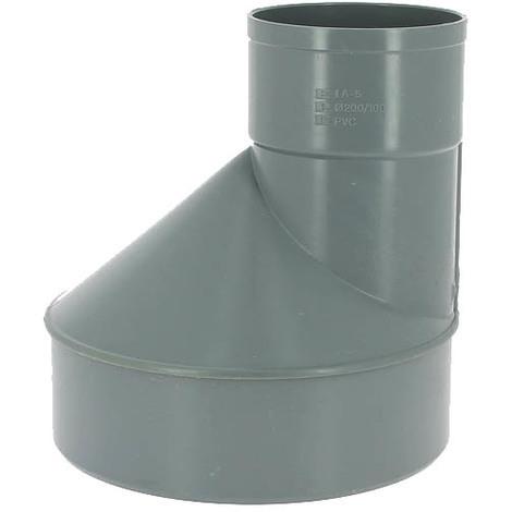 Réduction excentrée PVC mâle-femelle O200-100