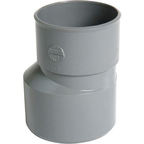 Reduction exterieure excentree male-femelle - PVC gris - 125/100 mm NICOLL, Ref.UIX2