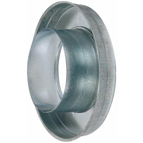 Réduction plate concentrique - RPC 125/80 - Galva - Ø 125mm