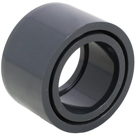 Réduction simple PVC pression - Mâle à coller / Femelle à coller. - Diamètres 50 / 40 mm