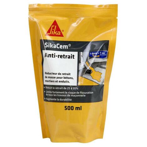 Reductor de contracción para hormigón y mortero SIKA SikaCem Anti-retracción - 500ml