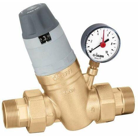 """Reductor de presión con cartucho monobloque extraíble. Con manómetro 1 1/4""""÷2""""caleffi 5350"""