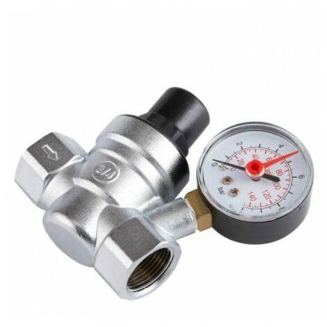 """main image of """"Reductor de presión de agua ajustable de 3/4 latón de 1 a 10 bar"""""""