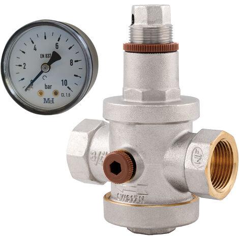 """main image of """"reductor de presión NF hembra con manómetro HG3/4"""""""""""