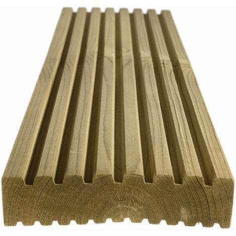 Redwood Reversible Treated Decking 32 x 125mm (Fin 27x118mm) 3.6mtr