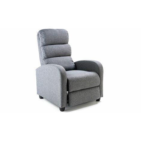 "main image of ""Reegan Single Fabric Grey Recliner Chair"""