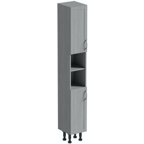 Reeves Newbury dusk grey tall storage unit 1990 x 300mm