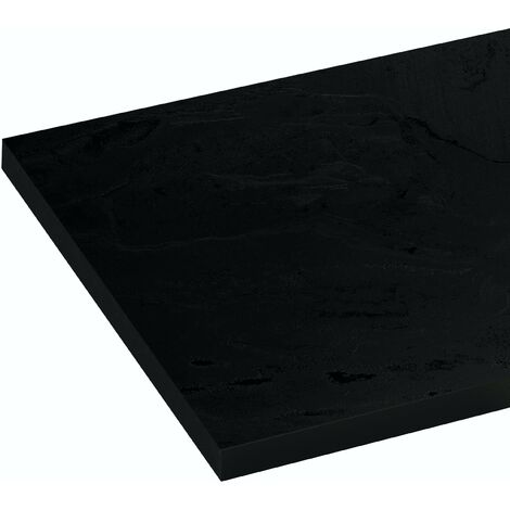 Reeves Nouvel black slate compact laminate worktop 365 x 1500mm