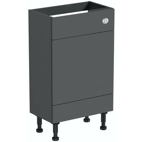 Reeves Nouvel gloss grey back to wall toilet unit 600mm