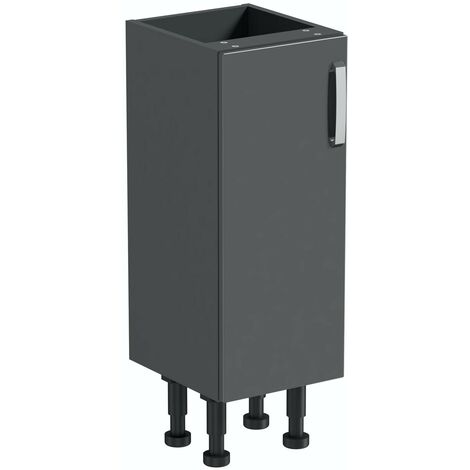 Reeves Nouvel gloss grey storage unit 720 x 300mm