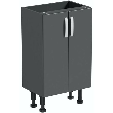 Reeves Nouvel gloss grey storage unit 720 x 500mm