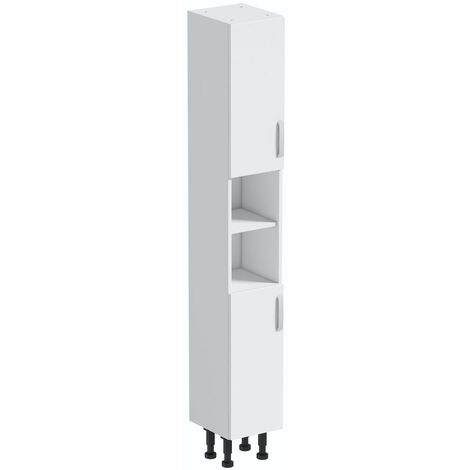 Reeves Nouvel gloss white tall storage unit 1990 x 300mm