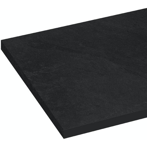 Reeves Nouvel grey slate compact laminate worktop 365 x 1500mm