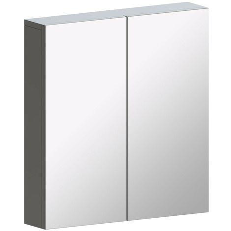Reeves Wharfe slate matt grey mirror cabinet