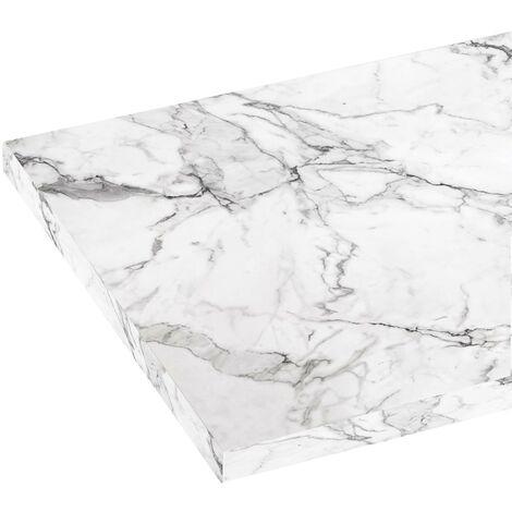 Reeves Wharfe white marble laminate worktop 337 x 1500mm
