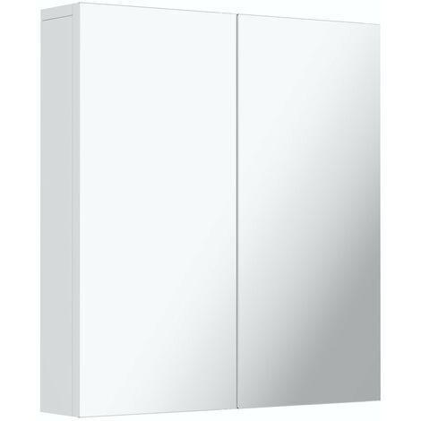 Reeves Wharfe white mirror cabinet 650 x 600mm