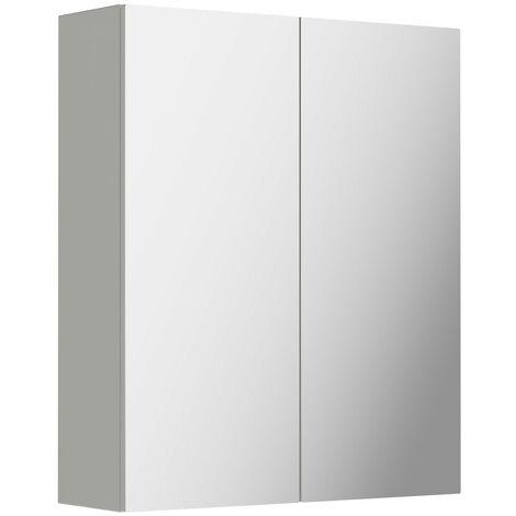 Reeves Wyatt light grey mirror cabinet 720 x 600mm