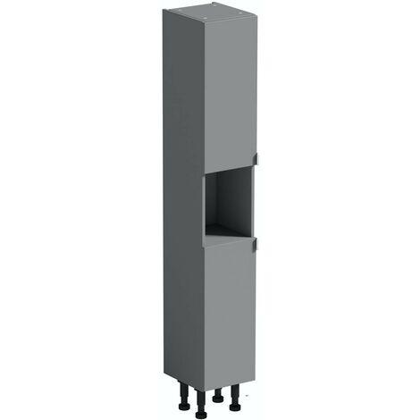 Reeves Wyatt onyx grey tall storage unit 1950 x 300mm