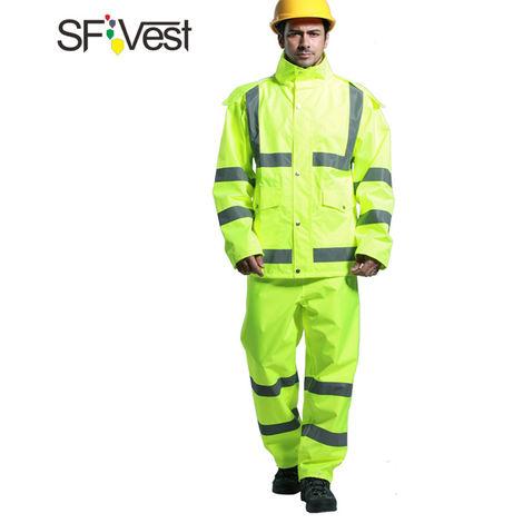 Reflechissant Rainwear Costume, Tissu Oxford Revetement, L