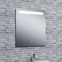 Reflections Islay, Modern Illuminated Bathroom LED Mirror / Touch Sensor and Demister