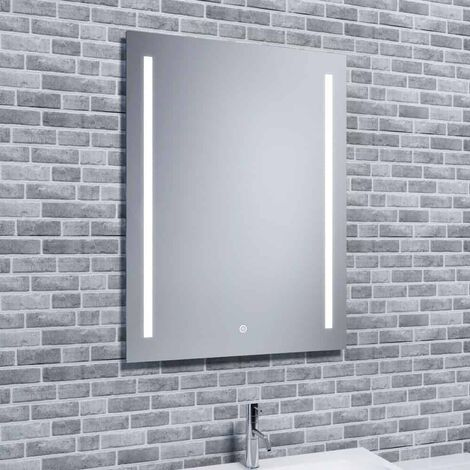 Reflections JURA, Modern Illuminated LED Mirror with Demister and Shaver Socket