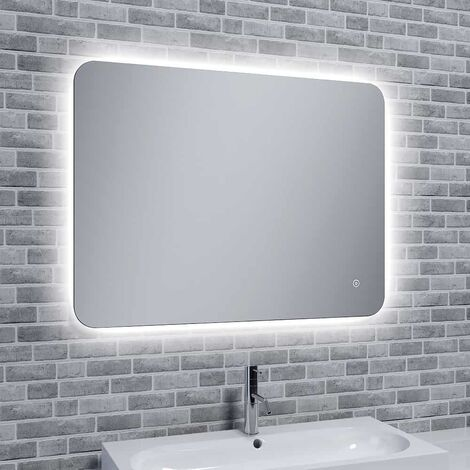 Reflections Rona Slim, Illuminated LED Mirror With Mood Light with Demister