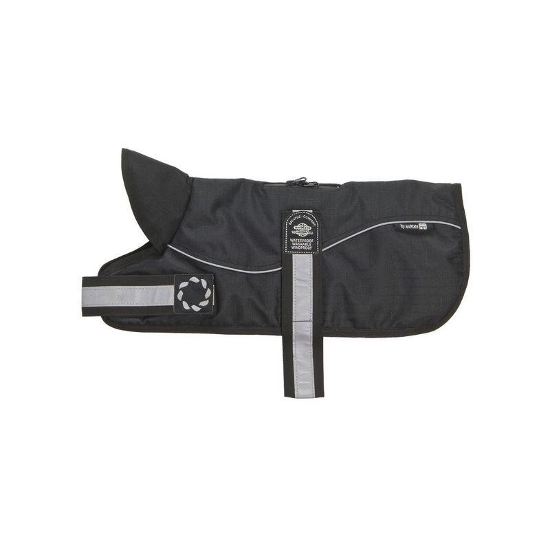 Image of Reflective Black on Black Padded Harness Coat 30cm x 1 (260607)