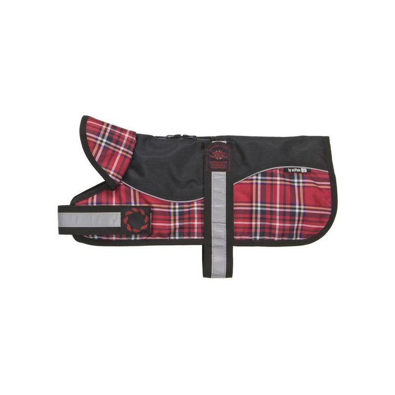 Image of Reflective Black/Red Tartan Padded Harness Coat 30cm x 1 (260597)