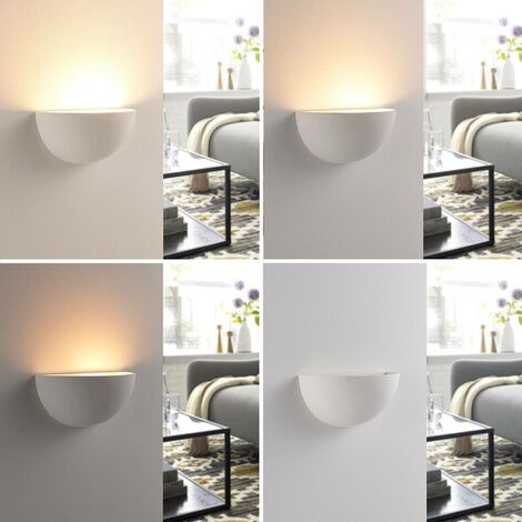 Reflector de pared LED Narin escayola blanco