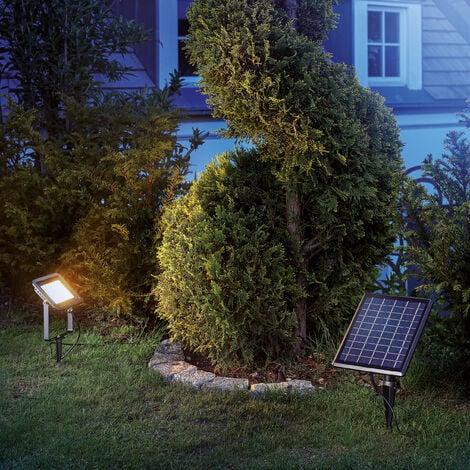 Reflector solar con LED blanco cálido luz para decoración de jardín esotec 102701