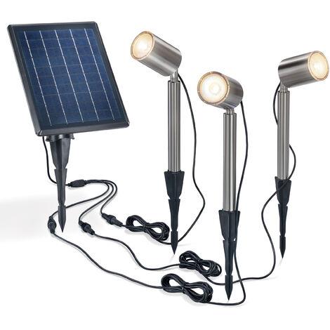 Reflector solar LED Solarspot PowerTrio de 5 vatios de jardín esotec 102705