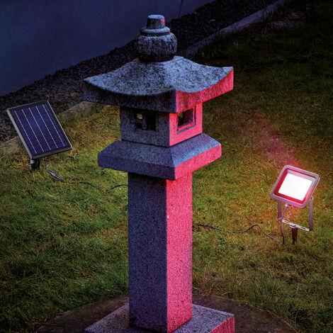 Reflector solar RGB con LED para decoración de jardín esotec 102703
