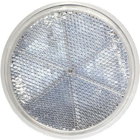 Reflektor mit Schraube Rund Ø 85mm Rückstrahler Weiß Katzenauge E20 Prüfzeichen